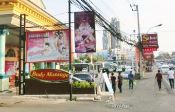 Pattaya Massage parlor sabai room signboard